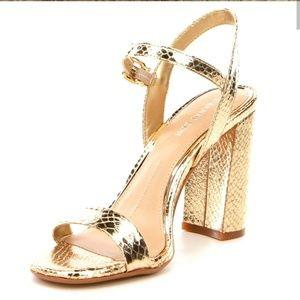 Women Gianni Bini Mckaria Block Heel Dress Sandals